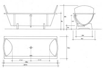 Holzbadewanne Achleitner Omega 200x80x58cm Kambalaholz Ab- u. Überlauf Bild 4