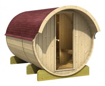 Karibu Fass Sauna 3 / Außensauna ohne Saunaofen Bild 1