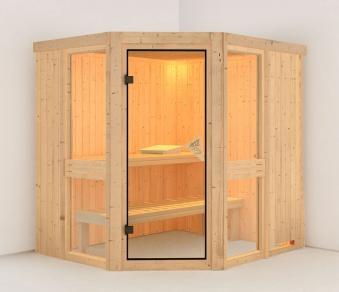 Karibu Sauna Amelia 1 68mm ohne Ofen classic Tür Bild 1