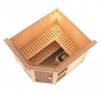 Karibu Sauna Amelia 3 68mm ohne Ofen classic Tür Bild 3