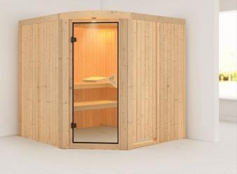Karibu Sauna Aukura 68mm ohne Ofen classic Tür Bild 1
