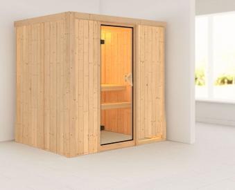 Karibu Sauna Bodin 68mm ohne Ofen classic Tür Bild 1