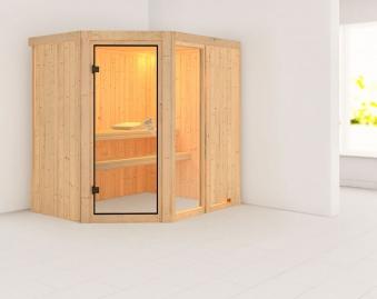 Karibu Sauna Fiona 1 68mm ohne Ofen classic Tür Bild 1