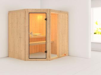 Karibu Sauna Fiona 2 68mm ohne Ofen classic Tür Bild 1