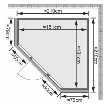 Karibu Sauna Flora1 68mm Dachkranz + Bio Ofen 9 kW extern - Sparset Bild 2