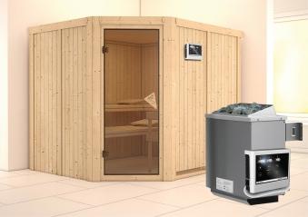 Karibu Sauna Malin 68mm Ofen 9kW extern Tür classic Bild 1
