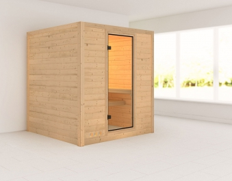 karibu sauna mojave 40mm ohne ofen classic t r bei. Black Bedroom Furniture Sets. Home Design Ideas