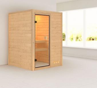 Karibu Sauna Nadja 38mm 230V ohne Ofen classic Tür Bild 1
