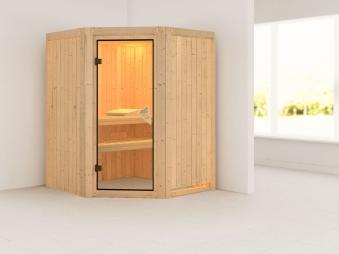 Karibu Sauna Nanja 68mm 230V ohne Ofen classic Tür Bild 1