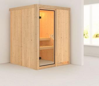 Karibu Sauna Norin 68mm ohne Saunaofen classic Tür Bild 1