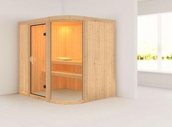 Karibu Sauna Parima 2 68mm ohne Ofen classic Tür Bild 1