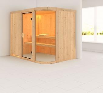 Karibu Sauna Parima 4 68mm ohne Ofen classic Tür Bild 1