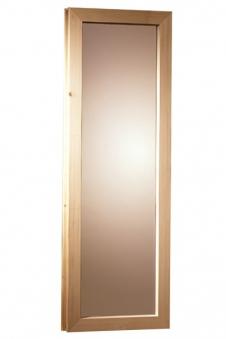 Fenster bronziert für Karibu 40mm Sauna 42x122cm