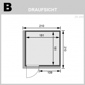 Karibu Sauna Rodin 68mm Dachkranz + Ofen 9kW extern Holztür Bild 2