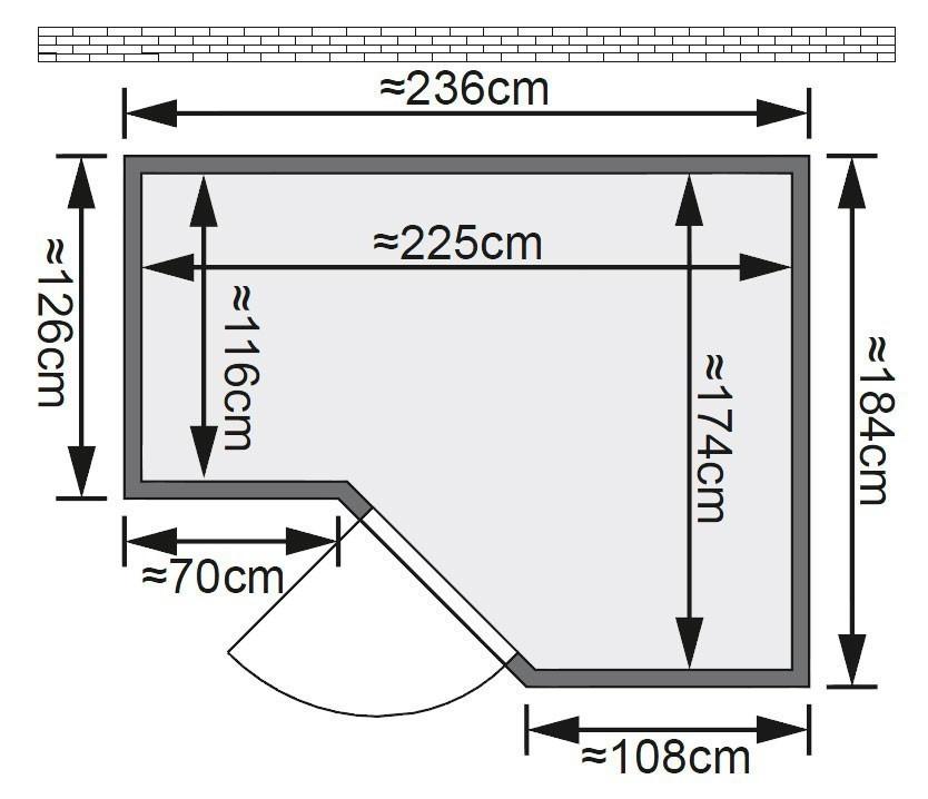 Karibu Sauna Sahib 2 40mm mit Ofen 9kW extern classic Tür Bild 2
