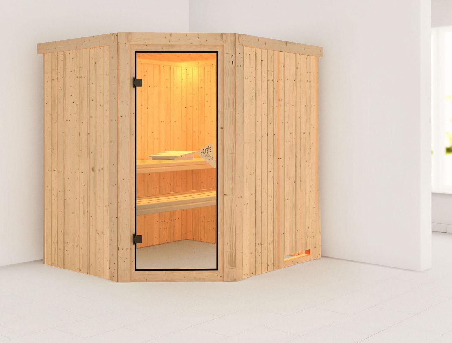 Karibu Sauna Siirin 68mm ohne Ofen classic Tür Bild 1
