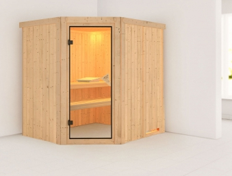 karibu sauna siirin 68mm ohne ofen classic t r bei. Black Bedroom Furniture Sets. Home Design Ideas