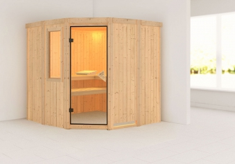 Karibu Sauna Simara 1 68mm Fenster ohne Ofen classic Tür Bild 1