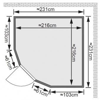Karibu Sauna Simara3 68mm Fenster + Ofen 9kW extern classic Tür Bild 2