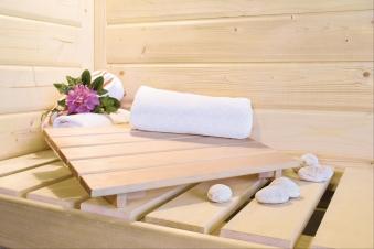 Karibu Sauna Sitania 68mm Saunaofen 9kW extern Tür Holz Aktion Bild 9