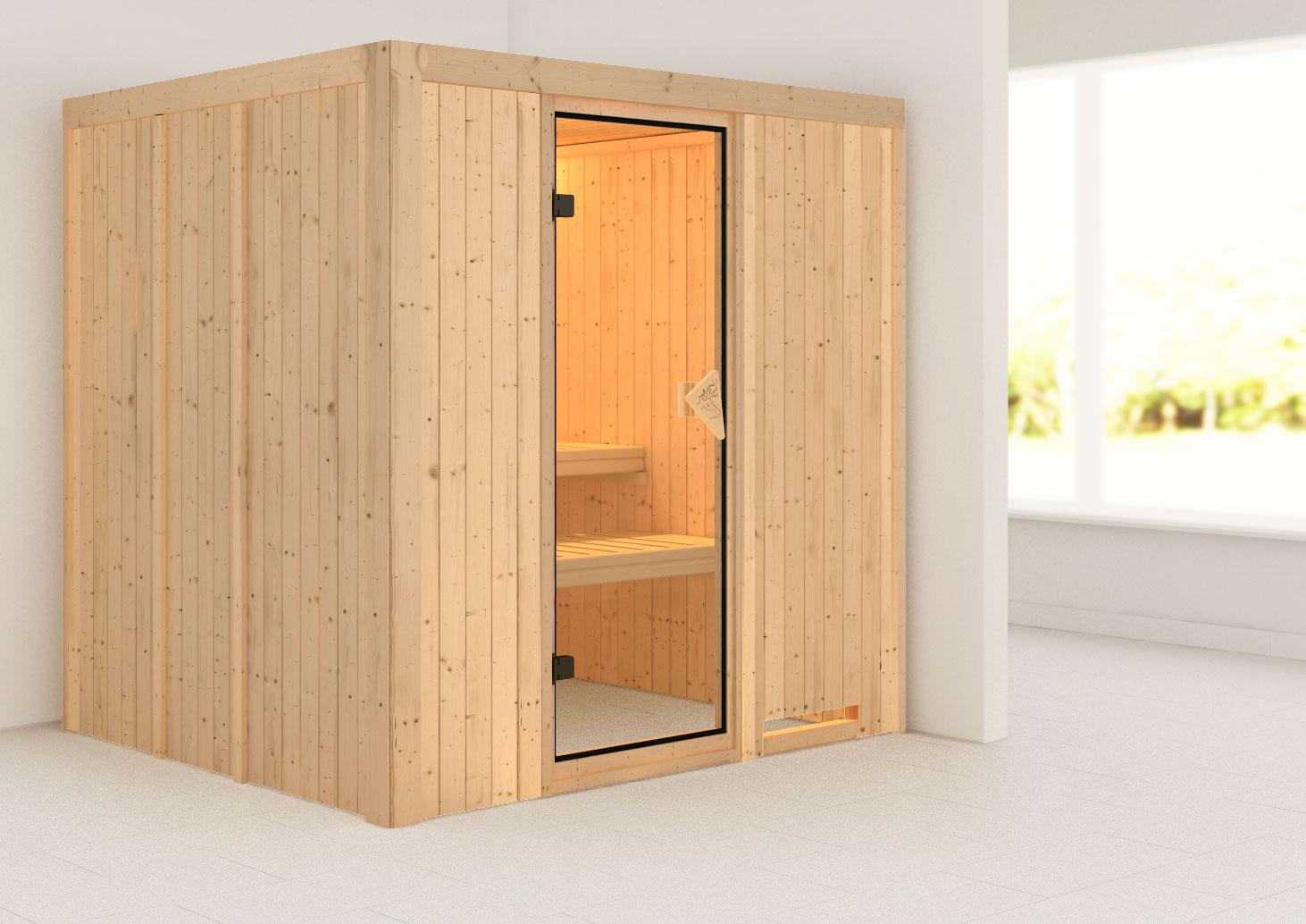 Karibu Sauna Sodin 68mm ohne Ofen classic Tür Bild 1