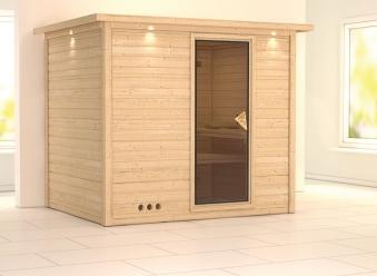 Karibu Sauna Sonara 40mm Dachkranz ohne Ofen classic Tür Bild 1