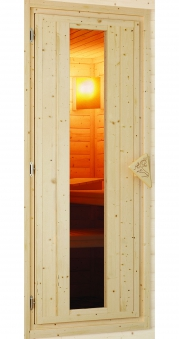 Karibu Sauna Türelement energiesparend für Wandstärke 38 / 40 mm Bild 1