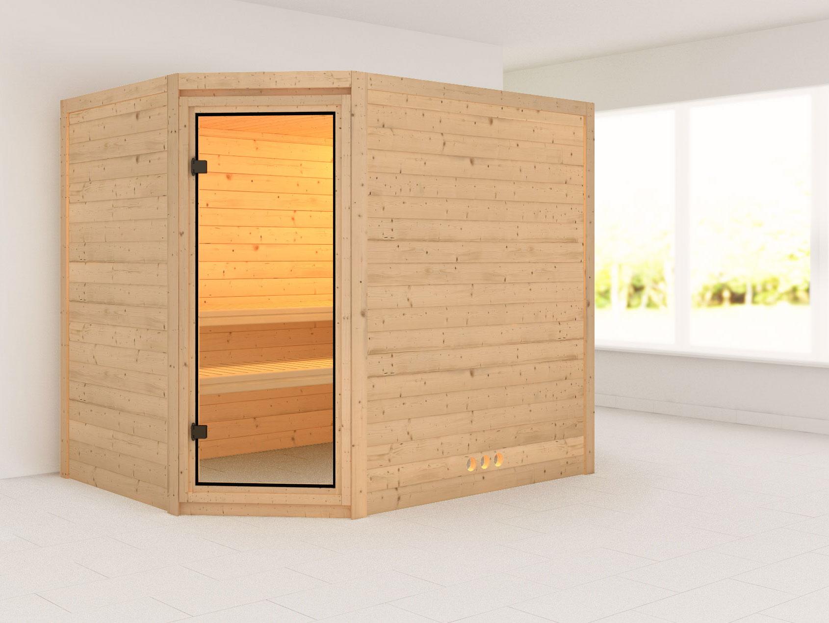 Karibu Sauna Tanami 40mm ohne Ofen classic Tür Bild 1