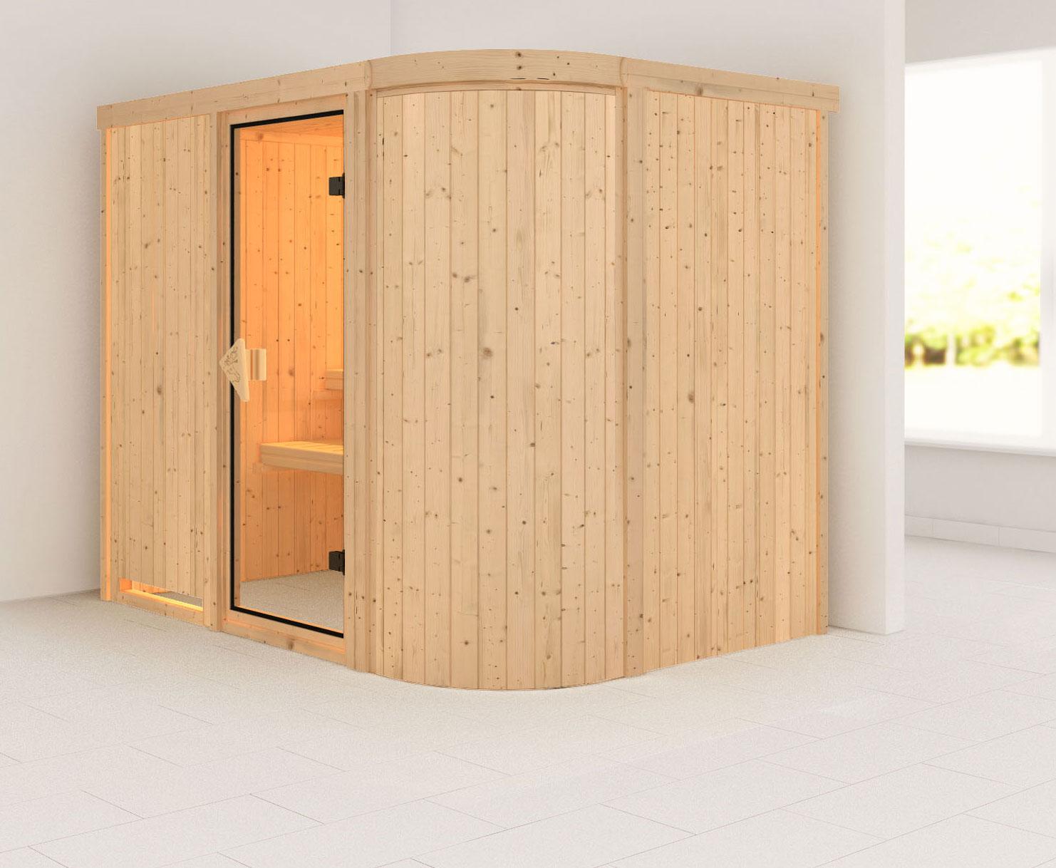 Karibu Sauna Titania 4 68mm ohne Ofen classic Tür Bild 1