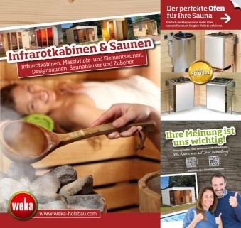 Katalog Weka Sauna, Wärmekabinen und Zubehör 2019/2020 Bild 1