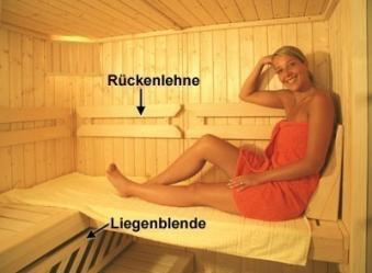 Komfortpaket 3 für Weka Saunen B 244 x T 194 cm Bild 1