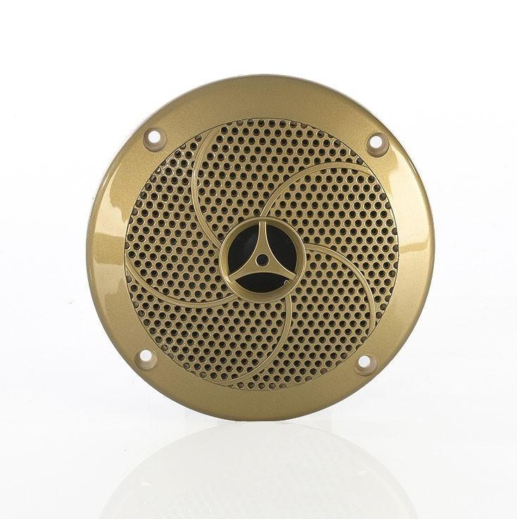 Lautsprecher für Sauna / Infrarotkabine / Dampfbad Ø135mm goldfarben Bild 1