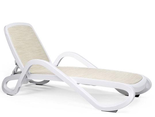 Nardi Gartenliege / Sonnenliege Alfa stapelbar bianco / trama beige Bild 1