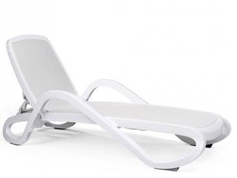 Nardi Gartenliege / Sonnenliege Alfa stapelbar bianco / trama bianco Bild 1