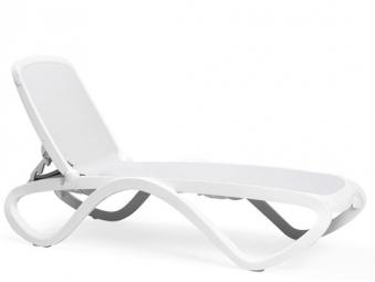Nardi Gartenliege / Sonnenliege Omega stapelbar bianco / bianco Bild 1