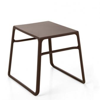 Nardi Gartenhocker Beistelltisch Tavolino Pop stapelbar 44x39,5 caffé