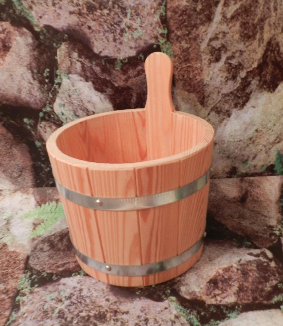 Sauna Aufgusskübel / Aufgusseimer Achleitner Lärche natur Bild 1