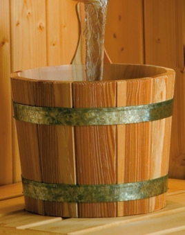 Sauna Aufgusskübel Weka 5 Liter mit Kunststoffeinsatz Bild 1