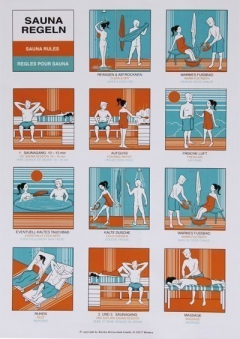 Sauna Baderegel-Tafel Karibu Bild 1