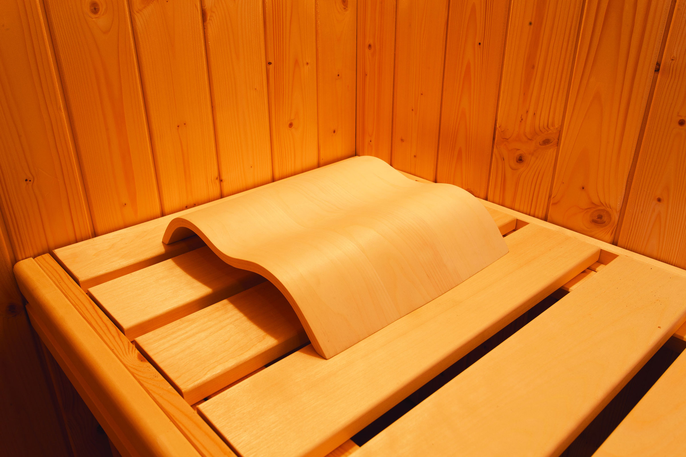 Sauna Kopfstütze Wave Karibu Bild 2