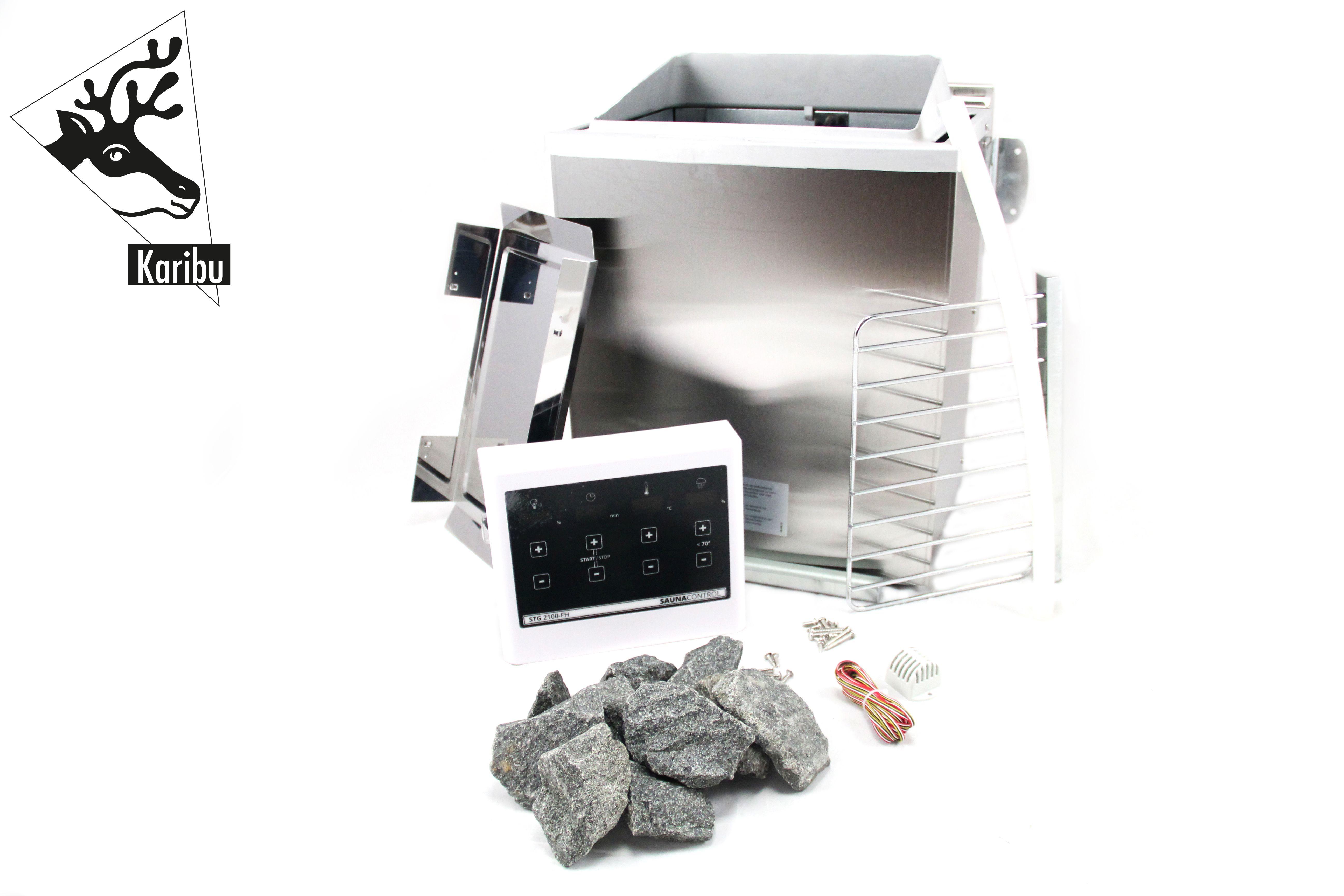 Saunaofen Woodfeeling BIO Kombiofen Set 9kW mit ext. Steuerung Easy Bild 4