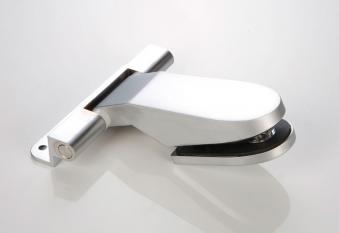 Türband 125x130 für Glastür Zungenform Anschraubband Falz matt-chrom Bild 1