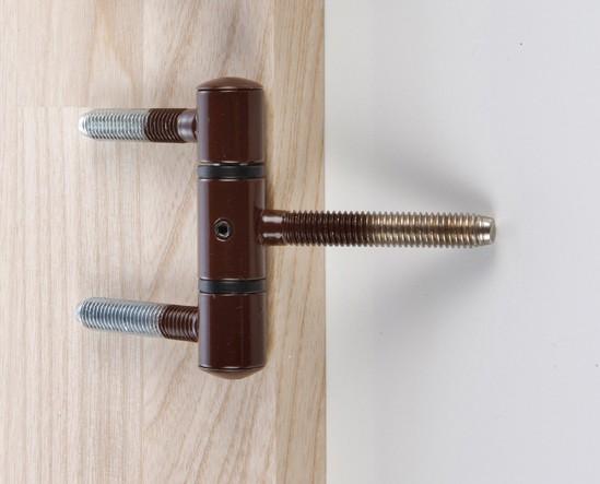 Türband 60mm für Holztür Einbohrstifte braun Bild 1