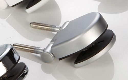 Türband 65x70 für Glastür Modern Art Einbohrstifte matt-chrom Bild 1