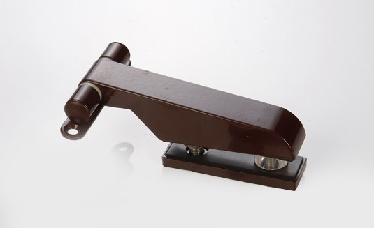 Türband 85x130 für Glastür Langform Anschraubband braun Bild 1