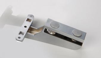 Türband 85x130 für Glastür Langform Anschraubband matt-chrom Bild 1
