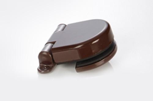 Türband 85x15mm für Glastür Modern Art Anschraubband braun Bild 1