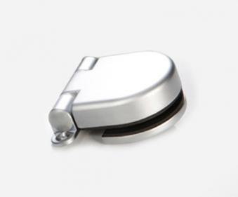 Türband 85x15mm für Glastür Modern Art Anschraubband matt-chrom Bild 1