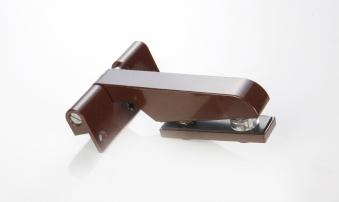 Türband selbstschließend für Glastür Langform braun DIN rechts Bild 1