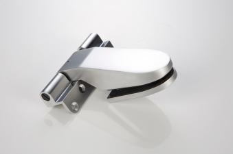 Türband selbstschließend für Glastür Zungenform matt-chrom DIN links Bild 1